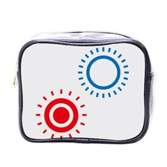 Color Light Effect Control Mode Circle Red Blue Mini Toiletries Bags by Mariart