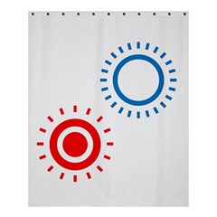 Color Light Effect Control Mode Circle Red Blue Shower Curtain 60  X 72  (medium)  by Mariart
