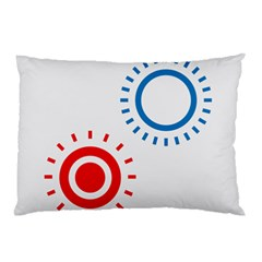 Color Light Effect Control Mode Circle Red Blue Pillow Case (two Sides) by Mariart