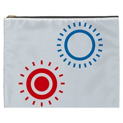 Color Light Effect Control Mode Circle Red Blue Cosmetic Bag (xxxl)  by Mariart