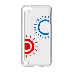 Color Light Effect Control Mode Circle Red Blue Apple Ipod Touch 5 Case (white) by Mariart