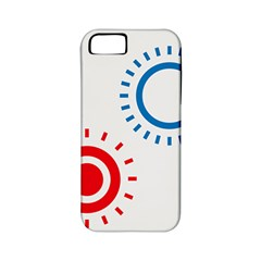 Color Light Effect Control Mode Circle Red Blue Apple Iphone 5 Classic Hardshell Case (pc+silicone) by Mariart