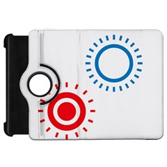 Color Light Effect Control Mode Circle Red Blue Kindle Fire Hd 7  by Mariart