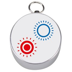 Color Light Effect Control Mode Circle Red Blue Silver Compasses by Mariart