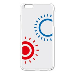 Color Light Effect Control Mode Circle Red Blue Apple Iphone 6 Plus/6s Plus Enamel White Case by Mariart