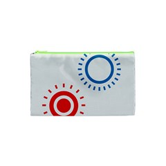 Color Light Effect Control Mode Circle Red Blue Cosmetic Bag (xs) by Mariart