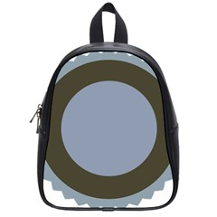 Circle Round Grey Blue School Bags (small)  by Mariart