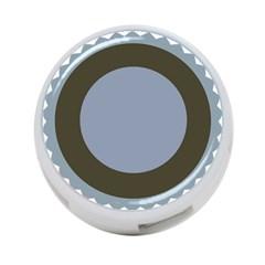 Circle Round Grey Blue 4 Port Usb Hub (one Side) by Mariart