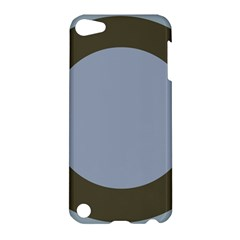 Circle Round Grey Blue Apple iPod Touch 5 Hardshell Case by Mariart