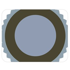 Circle Round Grey Blue Double Sided Flano Blanket (medium)  by Mariart