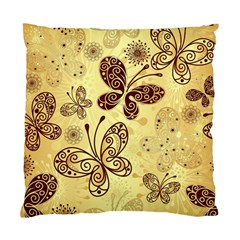 Butterfly Animals Fly Purple Gold Polkadot Flower Floral Star Sunflower Standard Cushion Case (two Sides) by Mariart