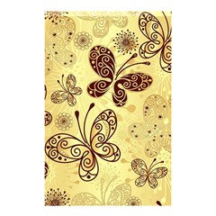 Butterfly Animals Fly Purple Gold Polkadot Flower Floral Star Sunflower Shower Curtain 48  X 72  (small)  by Mariart