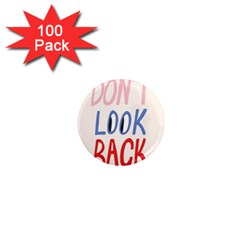 Don t Look Back Big Eye Pink Red Blue Sexy 1  Mini Magnets (100 Pack)  by Mariart