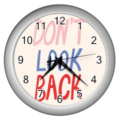 Don t Look Back Big Eye Pink Red Blue Sexy Wall Clocks (silver)  by Mariart