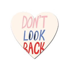 Don t Look Back Big Eye Pink Red Blue Sexy Heart Magnet by Mariart