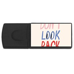 Don t Look Back Big Eye Pink Red Blue Sexy Usb Flash Drive Rectangular (4 Gb) by Mariart