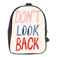 Don t Look Back Big Eye Pink Red Blue Sexy School Bags(large)