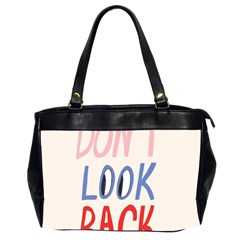 Don t Look Back Big Eye Pink Red Blue Sexy Office Handbags (2 Sides)  by Mariart