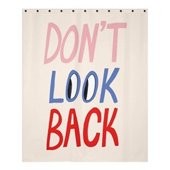 Don t Look Back Big Eye Pink Red Blue Sexy Shower Curtain 60  X 72  (medium)  by Mariart