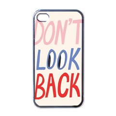 Don t Look Back Big Eye Pink Red Blue Sexy Apple Iphone 4 Case (black) by Mariart