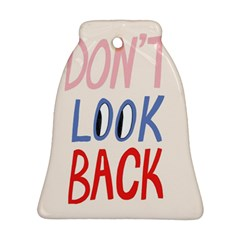 Don t Look Back Big Eye Pink Red Blue Sexy Ornament (bell) by Mariart