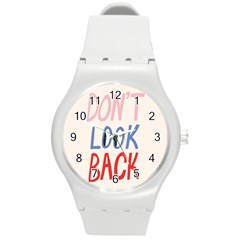 Don t Look Back Big Eye Pink Red Blue Sexy Round Plastic Sport Watch (m) by Mariart