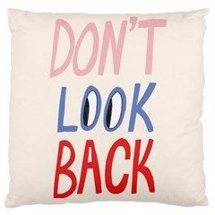 Don t Look Back Big Eye Pink Red Blue Sexy Large Cushion Case (two Sides) by Mariart