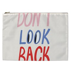 Don t Look Back Big Eye Pink Red Blue Sexy Cosmetic Bag (xxl)  by Mariart