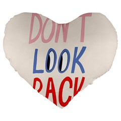 Don t Look Back Big Eye Pink Red Blue Sexy Large 19  Premium Heart Shape Cushions by Mariart