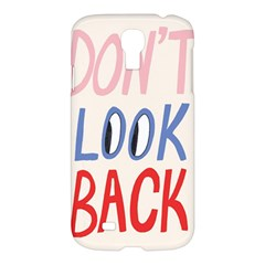 Don t Look Back Big Eye Pink Red Blue Sexy Samsung Galaxy S4 I9500/i9505 Hardshell Case by Mariart