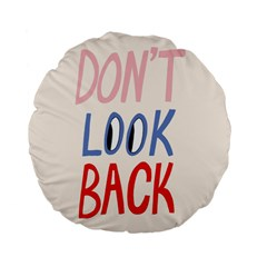 Don t Look Back Big Eye Pink Red Blue Sexy Standard 15  Premium Flano Round Cushions by Mariart