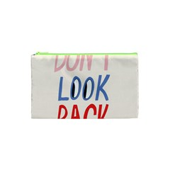 Don t Look Back Big Eye Pink Red Blue Sexy Cosmetic Bag (xs) by Mariart