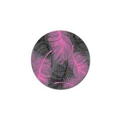 Feathers Quill Pink Grey Golf Ball Marker (4 Pack) by Mariart