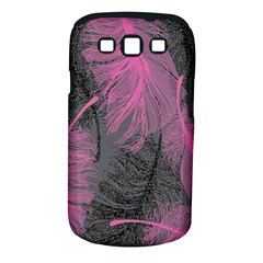 Feathers Quill Pink Grey Samsung Galaxy S Iii Classic Hardshell Case (pc+silicone) by Mariart