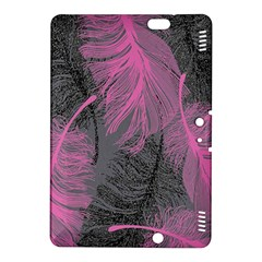Feathers Quill Pink Grey Kindle Fire Hdx 8 9  Hardshell Case by Mariart
