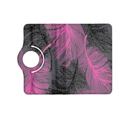 Feathers Quill Pink Grey Kindle Fire Hd (2013) Flip 360 Case by Mariart