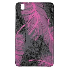 Feathers Quill Pink Grey Samsung Galaxy Tab Pro 8 4 Hardshell Case by Mariart
