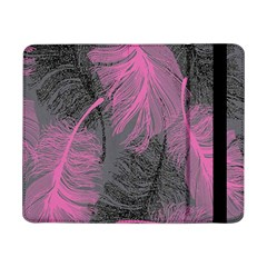 Feathers Quill Pink Grey Samsung Galaxy Tab Pro 8 4  Flip Case by Mariart