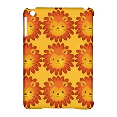 Cute Lion Face Orange Yellow Animals Apple Ipad Mini Hardshell Case (compatible With Smart Cover) by Mariart
