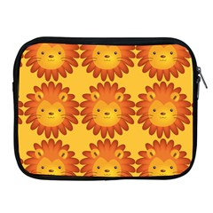 Cute Lion Face Orange Yellow Animals Apple Ipad 2/3/4 Zipper Cases by Mariart