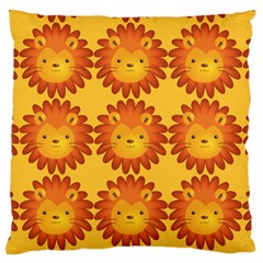 Cute Lion Face Orange Yellow Animals Standard Flano Cushion Case (Two Sides) by Mariart