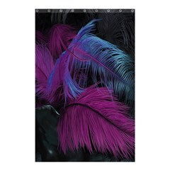 Feathers Quill Pink Black Blue Shower Curtain 48  X 72  (small)  by Mariart