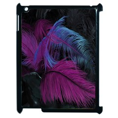 Feathers Quill Pink Black Blue Apple Ipad 2 Case (black) by Mariart