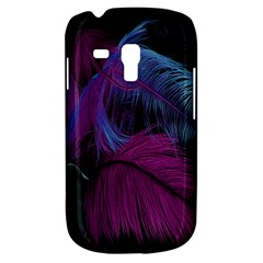 Feathers Quill Pink Black Blue Galaxy S3 Mini by Mariart