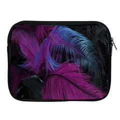 Feathers Quill Pink Black Blue Apple Ipad 2/3/4 Zipper Cases by Mariart