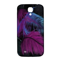 Feathers Quill Pink Black Blue Samsung Galaxy S4 I9500/i9505  Hardshell Back Case by Mariart