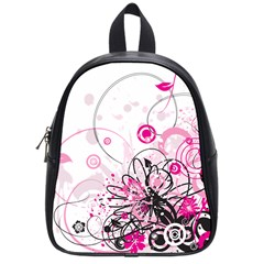 Wreaths Frame Flower Floral Pink Black School Bags (small)  by Mariart