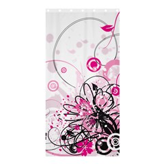 Wreaths Frame Flower Floral Pink Black Shower Curtain 36  X 72  (stall)  by Mariart