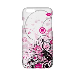 Wreaths Frame Flower Floral Pink Black Apple Iphone 6/6s Hardshell Case by Mariart