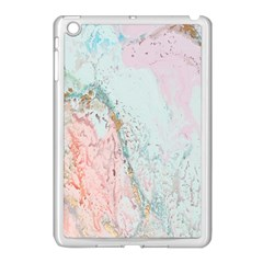 Geode Crystal Pink Blue Apple Ipad Mini Case (white) by Mariart